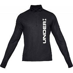 Under Armour SPEED STRIDE SPLIT 1/4 ZIP čierna M - Pánske bežecké tričko