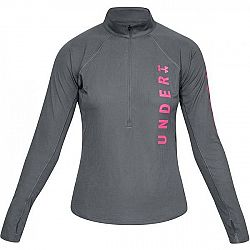 Under Armour SPEED STRIDE SPLIT WORDMARK HALF ZIP šedá XS - Dámske tričko