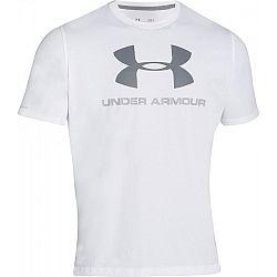 Under Armour SPORTSTYLE LOGO TEE sivá S - Pánske tričko voľného strihu