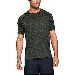 Under Armour TECH 2.0 SS TEE tmavo zelená XL - Pánske tričko