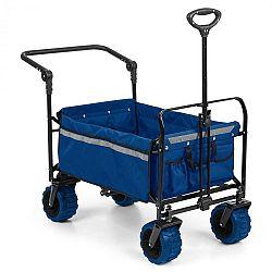 Waldbeck Easy Rider, ťahací vozík, do 70 kg, teleskopická tyč, sklopný, modrý
