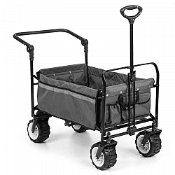 Waldbeck Easy Rider, ťahací vozík, do 70 kg, teleskopická tyč, sklopný, sivý