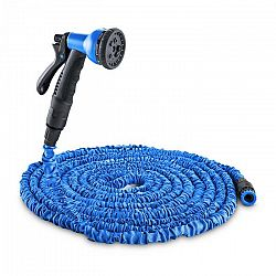 Waldbeck Flex 30, flexibilná záhradná hadica, 8 funkcií, 30 m modrá