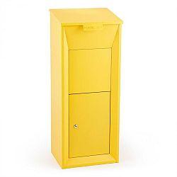 Waldbeck Postbutler Paketbox poštová schránka na balíky stojaca poštová schránka žltá