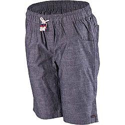 Willard MIKENA tmavo šedá 46 - Dámske  plátené šortky