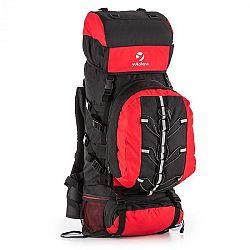 Yukatana Almer, červená/čierna, trekingový ruksak, 80 l, 40 x 80 x 35 cm, malý batoh